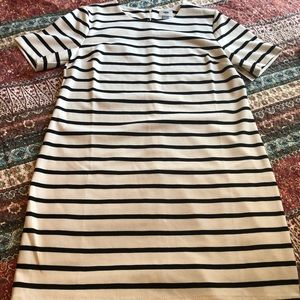 New White and Black Striped Dress From Old Navy